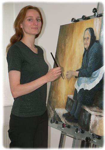 Photo of Edith painting